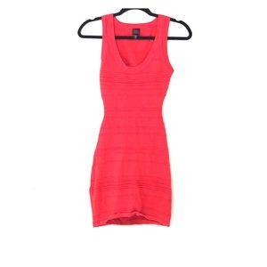 2B Bebe | Coral Back cutout Bodycon Dress